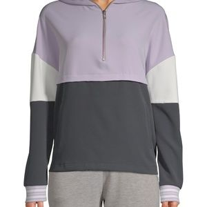 Avia Color Block Quarter Zip with Hood Size Large